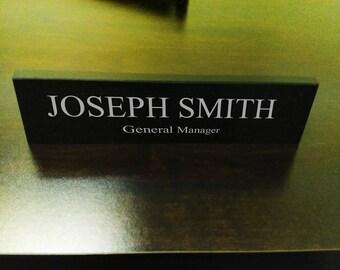 Granite Desk Name Plate, for Office, custom laser engraved