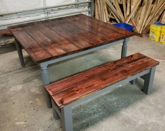 Kitchen table & bench