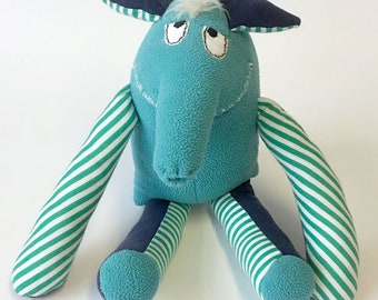 """Heinz-Rüdiger, from the family of """"bembis"""" cuddly stuffed animal plush animal hand sewn"""