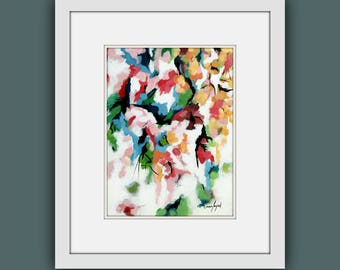 Printable Abstract Art, Instant Digital Download Art, Modern art prints, Contemporary Art, Abstract Flower Painting, Printable Artwork