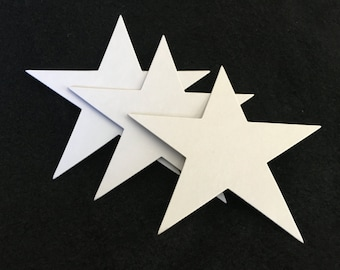 7 3/4 inch Chipboard Star Die Cuts-Star Blanks-Unfinished-Decoration-Raw Chipboard Extra Large Star Shape-Alterable Surface-Mixed Media Base