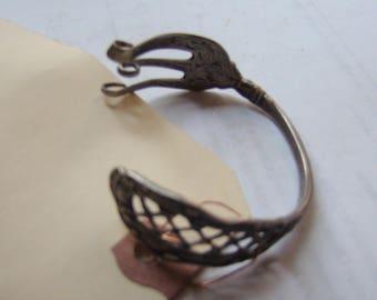 Antique Art Nouveau STERLING SILVER fork upcycled into bracelet !!