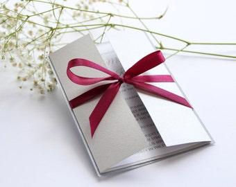 SAMPLE, Wedding Invitation Set, Silver Wedding Invitation, Grey Wedding Invitation, Gate Wedding Invitation, Wedding Invitation Suite