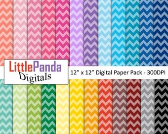 70% OFF SALE Chevron digital paper, scrapbook papers, wallpaper, background, commercial use - D456