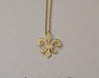 Gold Fleur-De-Lis Necklace