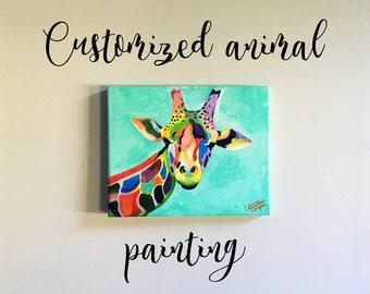 Custom Abstract Animal Painting