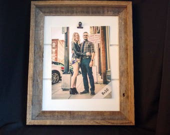 SALE Farmhouse Picture Frame Barnwood Shiplap Clip Picture Frame 8x10 Reclaimed Wood Picture Frame Ready to Ship