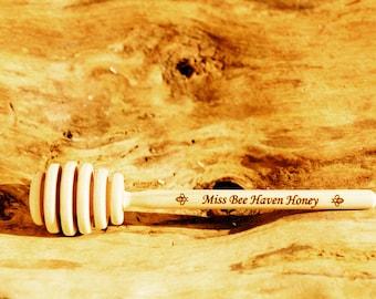 Engraved Honey Dipper