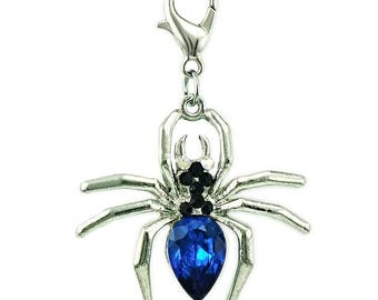 Blue spider Charms pendant