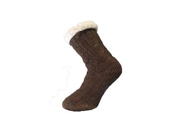 Brown Slipper Socks