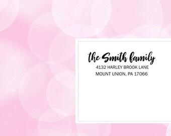Printable Handlettered Return Address Label