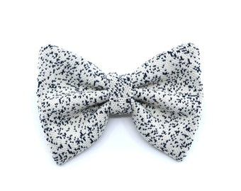 Galaxy collection - bow tie white - black spots