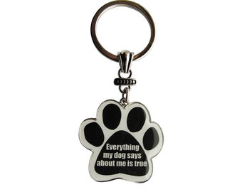 Dog Lovers Key Chain- Everything My Dog Says About Me Is True Key Chain