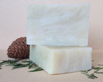 Organic Soap: Fir Needle / Cold Process Luxury Soap / Moisturizing Soap / Handmade Aromatherapy Soap /