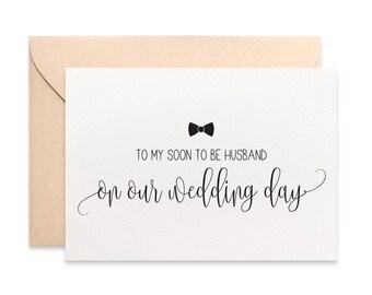 Husband Wedding Card, Gift for Husband, To My Husband On Our Wedding Day Card for Husband on Wedding Day, Husband Wedding Day Card WED064