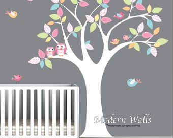 Children Wall Decal,Nursery Wall Decal,Baby Wall Decal,Wall Decals Nursery,Owl Wall Decals-e23