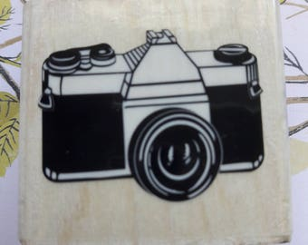 Vintage Camera Wood Mounted Rubber Stamp Scrapbooking & Paper Craft Supplies