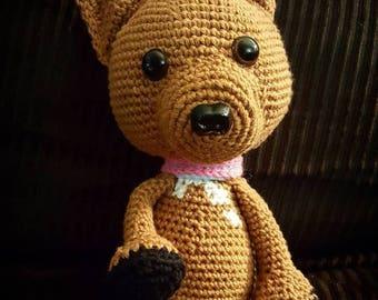 Crochet Miniture Pinscher Dog