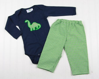 Baby Dinosaur Shirt - Boys Winter Outfit - First Birthday Shirt - Brontosaurus Shirt - Dino T-Shirt - Baby Boy Clothes - New Baby Boy Gift