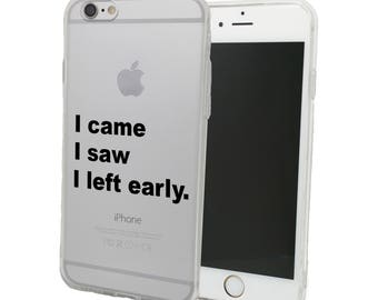Introvert - I Came I Saw I Left Early Nerdy / Geeky Phone Case - for Motorola X Play G4 Play