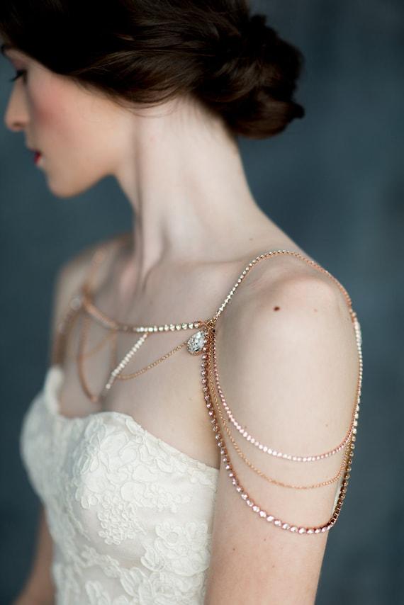 Rose Gold Shoulder Necklace Gold Shoulder Piece Silver