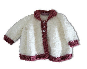 Knitting Jacket For Girl : Baby knitted jacket pdf download knitting pattern
