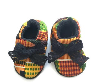 Baby Crib Shoes, Kente Baby Shoes, Baby Moccasins, Crib shoes, Baby Gift, Baby Shoes, African Baby Clothes, Baby Shower Gift