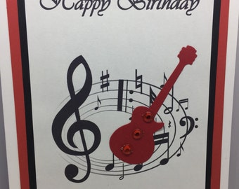 Guitar Musical Birthday Card