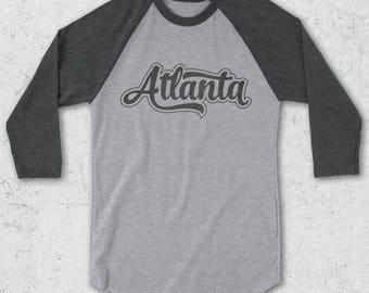 Atlanta Shirt - Atlanta Baseball Tee for Men & Women - Atlanta Raglan shirt - Retro Tshirt - Vintage Graphic Tee - Atlanta Shirts - Atlanta
