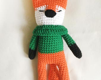 Fox toy/Plush fox/Knitted toys/Amigurumi/Amigurumi animals/Knit toy/Knitted fox/Soft toy/Toy/Toy Forest Animal
