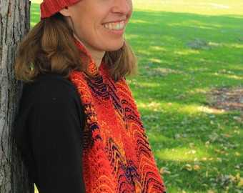 Fall Chevron Hat and Scarf