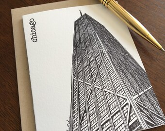 John Hancock Center - Chicago City Series Letterpress Note Card