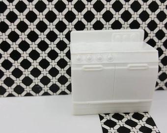 Superior Herd Ofen weißen harten Kunststoff-Spielzeug Puppenhaus traditionellen Stil
