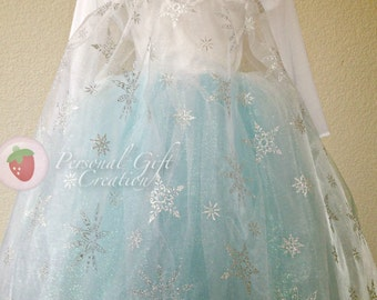 Inspired Elsa cape with sleeves (outfit sold separate)
