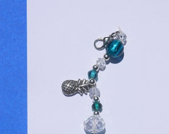 Blue Pineapple- Planner Charm