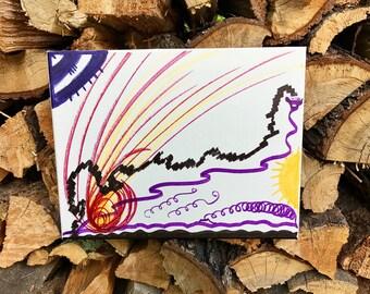 Handmade canvas painting, Spiritual Art, Spirituality, Meditation, Healing, Love and Light
