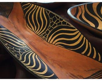 Teak Wood Oblong Bowls