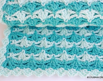 Crochet Baby Blanket Pattern, Super Chunky Blanket Crochet PATTERN, Baby Boy or Baby Girl DIY Gift, Instant Download, PDF Pattern No.56