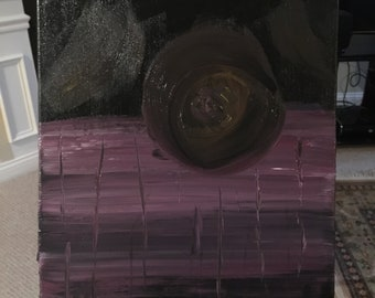 Purple and Black Abstract