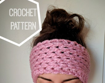 Chunky Crochet Ear Warmer Pattern, Ear Warmer Crochet Pattern, Crochet Headband Pattern, Beginner Crochet Patterns, Chunky Headband