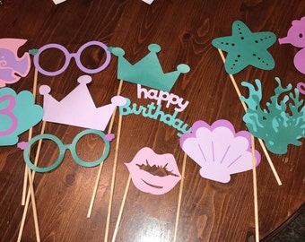 Custom Birthday Party Photo Booth Props