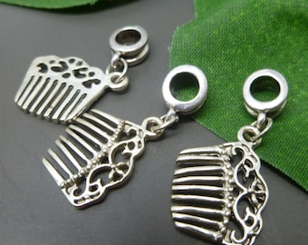 5 pc - Antique Silver Princess Charms Pendants Lot - Charms for European Style Bracelets -EC063