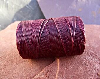 4 Ply Maroon Waxed Irish Linen Thread 10 Yards boho rustic WIL-6,maroon linen thread,wine linen thread,bookbinding thread,irish linen thread