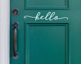 Hello Decal for Front Door or Entryway Decor - Modern Farmhouse Style - Entryway Decor - WB411