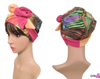 "REVERSIBLE hat ""Alizée"" & two-tone hard headband"