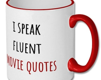 movie buff gift, movie lover gift, movie fan gift, movie watcher gift, movie buff mug, funny coffee mug, funny gifts, coffee mug humour