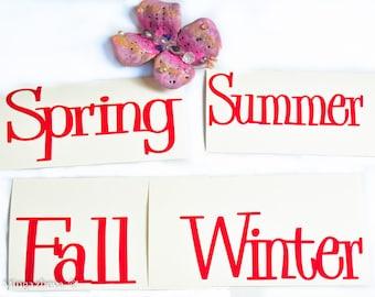 Custom made Sticker Vinyl Four Seasons Summer Fall Winter Spring  Decoration Gift idea