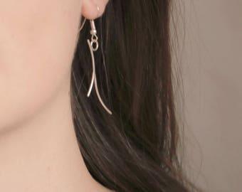 Minimalist earrings   Sterling silver   Boho   Dainty earrings   Gift for her