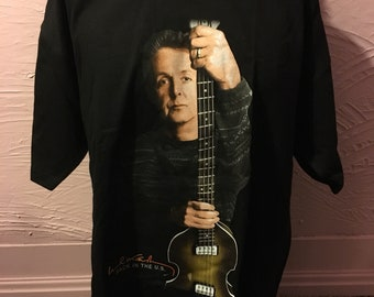 Deadstock Paul McCartney Back In The US Tour 2002 T-Shirt XL