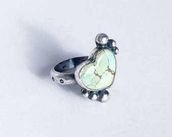 Sterling Silver & Turquoise Heart Ring